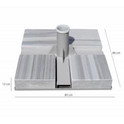 12 cm Mermerli Teleskobik Metal Şemsiye Ayağı